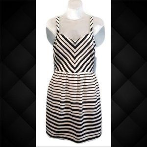 🍁 BeBop Striped Chevron Sleeveless Sun Dress